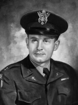 Portrait of Kapaun in uniform. Photo from the Diocese of Wichita, courtesy of Les Broadstreet.
