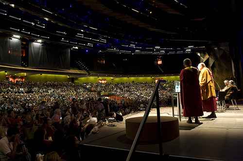 The Parliament of the World's Religions Melbourne 2009 Plenary with the Dalai Lama.  Photo courtesy Council on a Parliament of the World's Religions