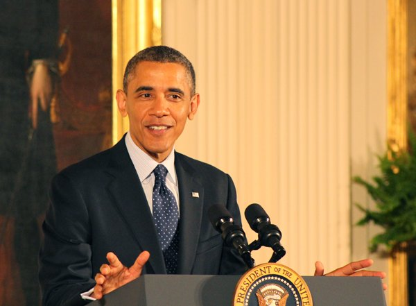President Obama speaks at the White House Easter Prayer Breakfast on Friday, April 5, 2013. RNS photo by Adelle M. Banks