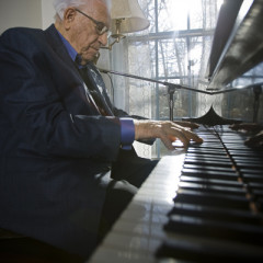 Grammy-winning gospel singer George Beverly Shea (pictured here playing the piano in 2008) has died at 104 – a life as full as it was long for the man behind the booming voice that for decades rang out at Billy Graham's crusades, and then years after Graham stopped holding big public events. Photo courtesy Billy Graham Evangelistic Association