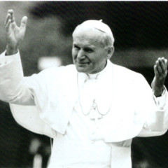 "Pope John Paul II gestures in a still from the PBS frontline show, ""John Paul II: The Millennial Pope."" The pontiff, who has always attracted media attention is the subject a new book as well the PBS television show airing Sept. 28."