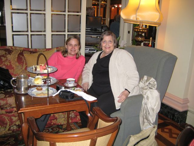 High tea on our Alaska cruise in May 2011 (author photo)