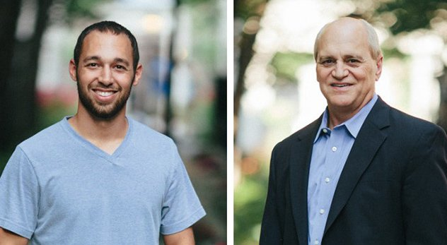 25-year-old Carson Nyquist and his father, Moody Bible Institute President J. Paul Nyquist, wrestle with generational issues affecting churches. Photo courtesy of Moody Collective.