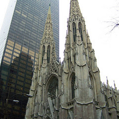 Saint Patrick's Cathedral in New York. (from flickr user Allison Harger).
