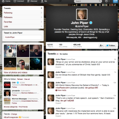 Screenshot of speaker John Piper's Twitter feed (https://twitter.com/JohnPiper)