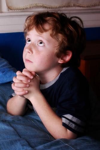 Image of bedtime prayers via Shutterstock (http://shutr.bz/13FDBKw)