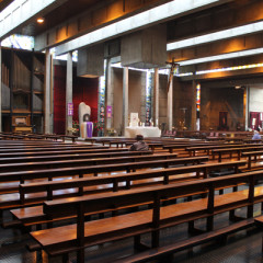 Few parishioners turned up for a weekday afternoon service in March at Dún Laoghaire parish in the southern part of Dublin. Photo by Paresh Dave