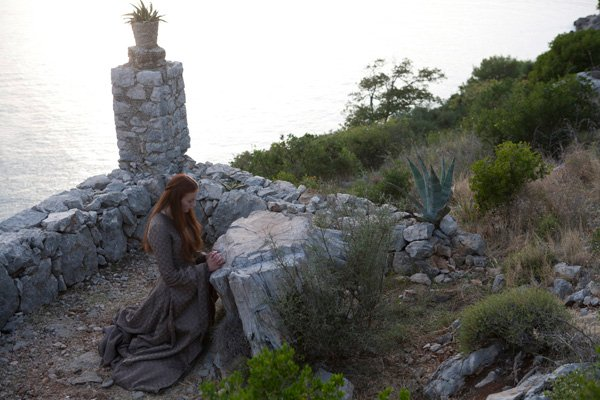 A scene from Game of Thrones episode 24 with actress Sophie Turner. Photo by Keith Bernstein/courtesy HBO