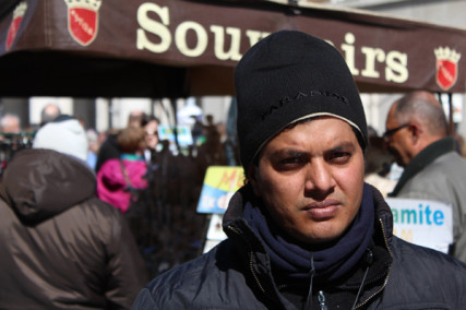 (RNS1-May 28) Sarwar Jahan, 26, a street souvenir merchant in Rome, is one of many Muslim immigrants to Italy. For use with RNS-ITALY-MUSLIMS, transmitted on May 28, 2013, Photo courtesy Mustafa Hameed.