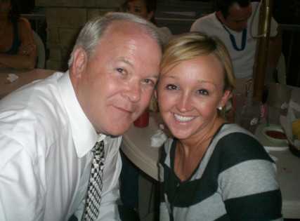 The Rev. Frank Page, former president of the Southern Baptist Convention, with his daughter Melissa Page Strange, 32, who took her own life in 2009. Photo courtesy Frank Page