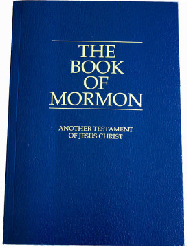 Book of Mormon photo by Ricardo630, cover by The Church of Jesus Christ of Latter-day Saints - Public via Wikimedia Commons