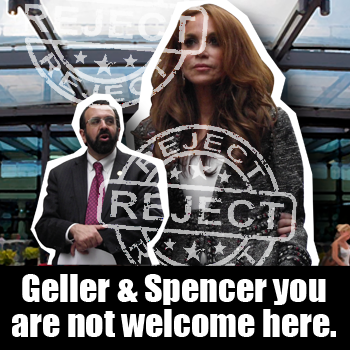 Geller and Spencer not welcome here from Hope Not Hate petition site