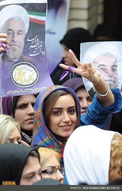 Iranian woman rouhani supporter
