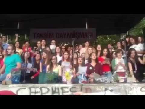Les Miserables song at Gezi park