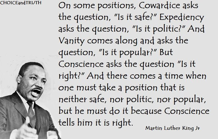 Dr. King on conscience