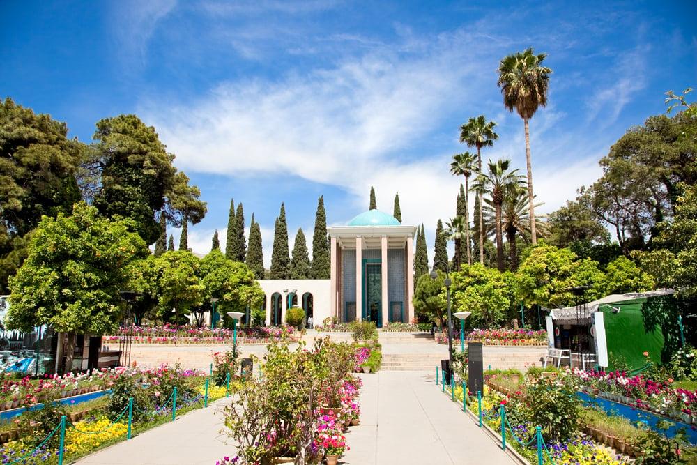 shiraz Sa'di tomb from Shutterstock