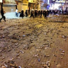 tear gas canisters on Istiklal