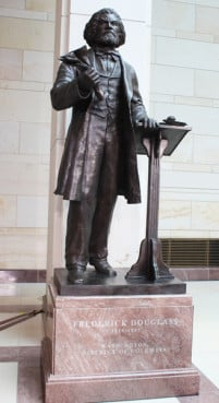 A seven-foot bronze statue of Frederick Douglass, who is known as the father of the civil rights movement, was unveiled at the U.S. Capitol Wednesday (June 19). RNS photo by Adelle M. Banks