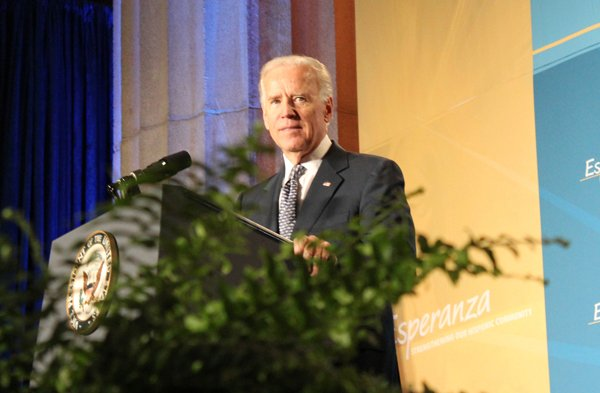 Vice President Joe Biden speaks at the National Hispanic Prayer Breakfast in Washington in June 2013. He urged passage of immigration reform. RNS photo by Adelle M. Banks
