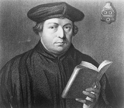 Martin Luther, founder of Germany's Protestant (Lutheran) Church, nailed his 95 theses to the church door in Wittenberg. Religion News Service file photo