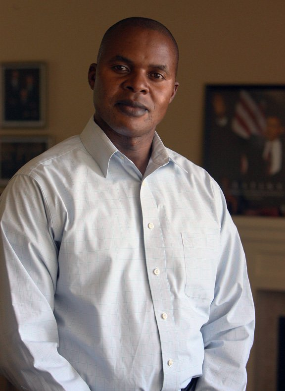 Amram Musungu, a Mormon from Kenya, is a leader in Swahili Mormon ward in Salt Lake City but says the church still has lingering prejudice, even 35 years after it lifted the ban on blacks entering the priesthood. RNS photo courtesy Steve Griffin | The Salt Lake Tribune.