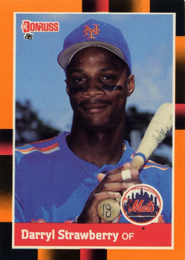 Darryl Strawberry Mets baseball card photo courtesy Tony Unruh via Flickr