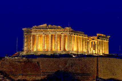 The Parthenon, the famous Greek temple to the goddess Athena. Photo courtesy Konstantinos Dafalias via Flickr