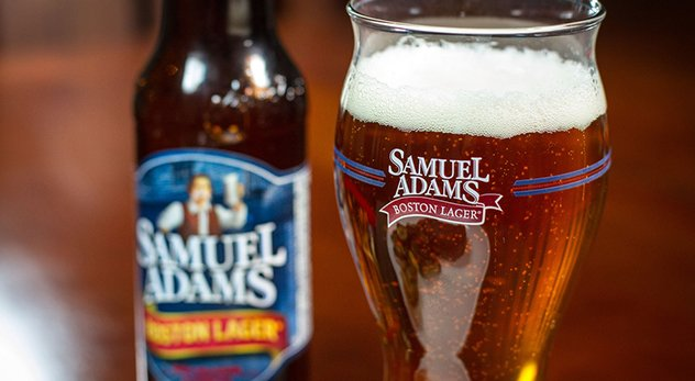 "A recent advertisement for Samuel Adams' beer outrages religious Americans and historical purists. - Image courtesy of ""Another Pint Please..."" (http://bit.ly/12WUwYN)"
