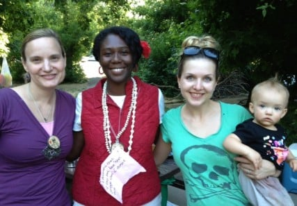 Me with Zandra Vranes of Sistas in Zion (center), Lindsay Hansen Park of the FMH podcast, and a member of the next Mo Fem generation