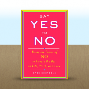 "I read Greg Cootsona's book ""Say Yes to No"" a couple of years ago when I knew I needed to follow its advice. Apparently I need to read it again because I keep saying yes to too many things. (http://tinyurl.com/lnrk3jv)"