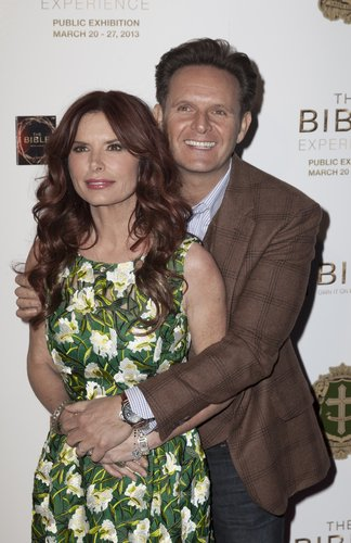 Photo of producers Roma Downey and Mark Burnett of the Bible miniseries.