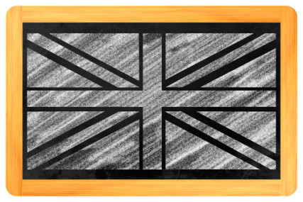 ">a href=""http://shutr.bz/18Nweon"">Drawing of UK flag on a chalkboard courtesy Shutterstock"