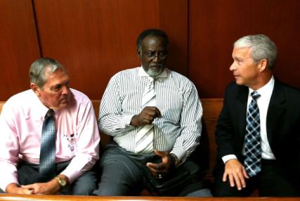 Trial pastors: (Left to right) Rev Robert K. Gregory, Jr., Rev. Lowman J. Oliver, III; Rev. Joel Hunter. The three pastors have been observing the murder trial of George Zimmerman in Sanford, Florida. Photo by Mark I. Pinsky
