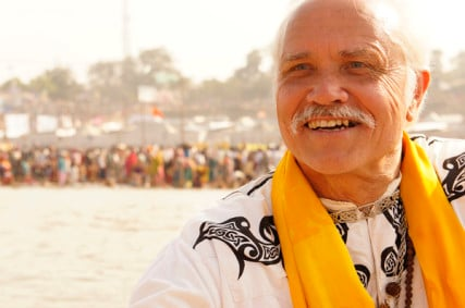 Rev. Patrick McCollum attends a spiritual gathering in the Kumbh Mela in Allahabad, India. Photo courtesy Rev. Patrick McCollum