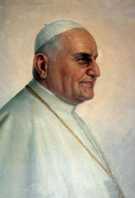 Pope John XXIII. From a painting in the Casa Santa Maria dell'Umilta of the Pontifical North American College, Rome. Credit: Photo by Rene Shaw