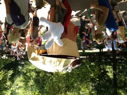 Yeah, that's a gigantic puppet in the closing parade. I'm not sure why either. Just work with it.
