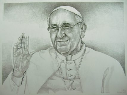 "#11 - Pope Francis by Zoltán Marton, Transylvania, Romania (Lead Pencil) - ""On the picture can be see Pope Francis. The drawing was made with lead pencil."""