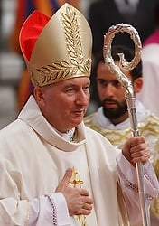 Pope Francis has appointed Italian Archbishop Pietro Parolin, 58, as Vatican  secretary of state. On Oct. 15 Archbishop Parolin will succeed Cardinal Tarcisio Bertone, 78. CNS photo courtesy Paul Haring.