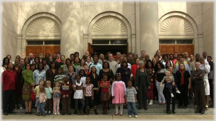 Photo of the congregation at First Grace United Methodist Church of New Orleans courtesy First Grace United Methodist Church of New Orleans.