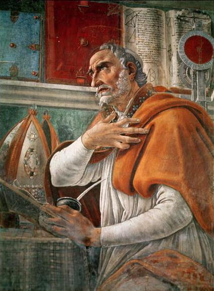 Saint Augustine in His Study by Sandro Botticelli, 1480, Chiesa di Ognissanti, Florence, Italy.