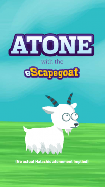 The eScapegoat, an online creation of a San-Francisco non-profit to help people get ready for Yom Kippur, the Jewish Day of Atonement. Photo courtesy G-dcast