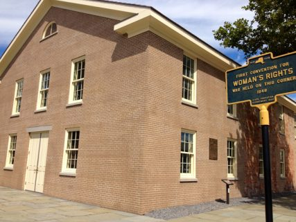 The Wesleyan Chapel in Seneca Falls, N.Y. where the first Women's Rights Convention was organized by freethinkers in 1848. RNS photo by Kimberly Winston