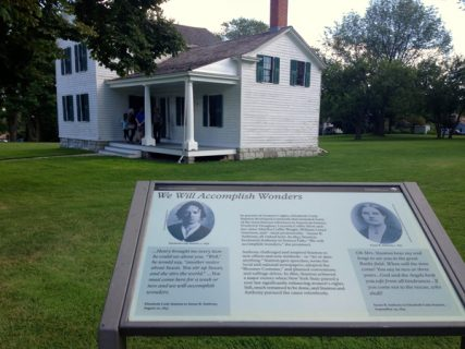 Stop number 6 on The Freethought Trail -  Elizabeth Cady Stanton's house in Seneca Falls, N.Y. Stanton, a freethinker, wrote the first declaration of women's rights. RNS photo by Kimberly Winston