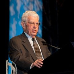 Rabbi Richard Hirsch receiving The Maurice N. Eisendrath Bearer of Light Award for Service to Reform Jewry at the URJ 2011 Biennial. Copyright 2011 Obrien Photography/Photo courtesy Union for Reform Judiasm