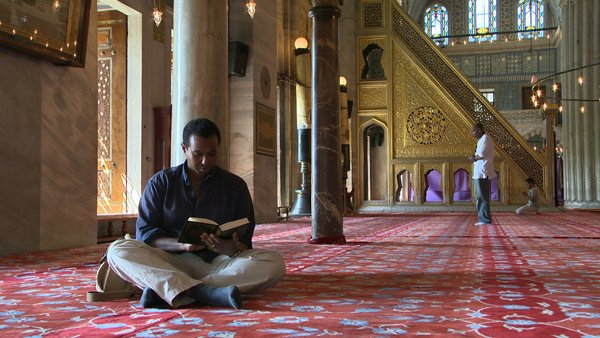 "Rageh Omaar travels to the place of Muhammad's birth to retrace the footsteps of the prophet in PBS' ""Life of Muhammad"". Photo courtesy PBS"