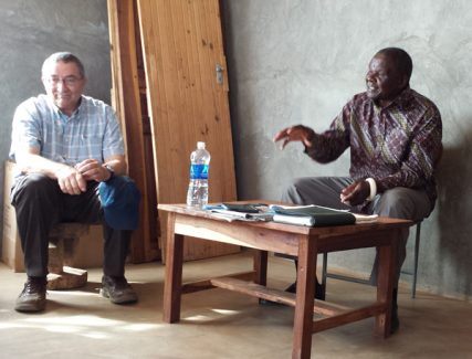 In his community involvement, Dr. Philip Thuma (left) has worked with local leaders, including Chief Macha. RNS photo by Sarah Pulliam Bailey