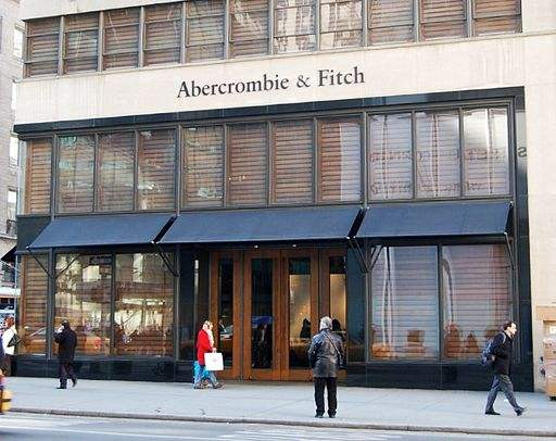 Abercrombie & Fitch store on Fifth Avenue in New York.