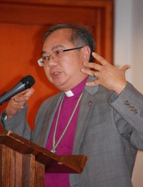 Bishop Yu speaks at the Anglican Back to the Future Conference in Toronto, Canada, on Wednesday (Sept. 18). Photo by Bob Bettson