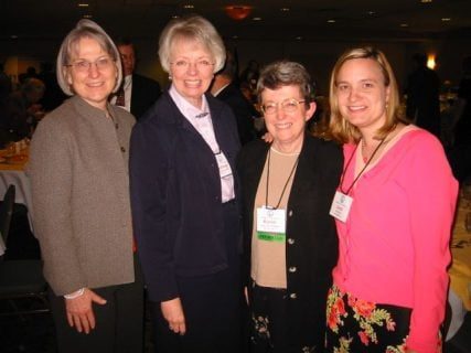 Kathleen Flake (Left) at the Mormon History Association conference in 2005, with Sydney S. Reynolds, Karen Lynn Davidson, and me.