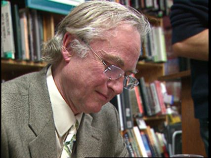 Richard Dawkins, seen here at a book signing, is the author of ``The God Delusion.'' Religion News Service file photo courtesy of Religion & Ethics NewsWeekly.
